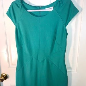 Calvin Klein Turquoise Blue Knit Jersey Dress 10